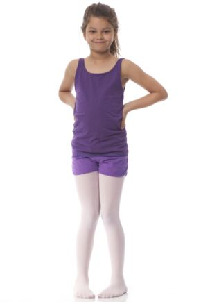 Girls 1 Pair Silky Ballet Foot Tights Theatrical Pink 7-9