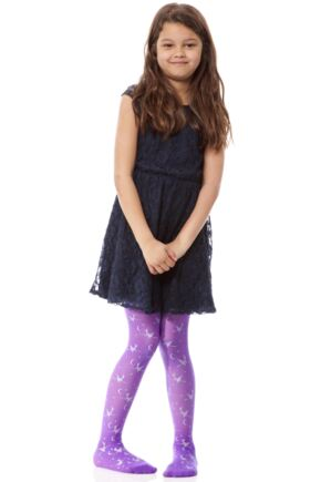 Girls 1 Pair Couture Little Ladies Halloween Witch Tights 50% OFF Purple 9-10 Years