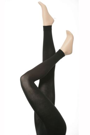 Ladies 1 Pair Falke Cotton Touch Footless Tights