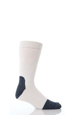 Mens 1 Pair Workforce Calf Length Steel Safety Socks