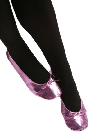 Ladies 1 Pair Rollasole Pink Rollable After Party Shoes to Keep in Your Handbag Pink Large