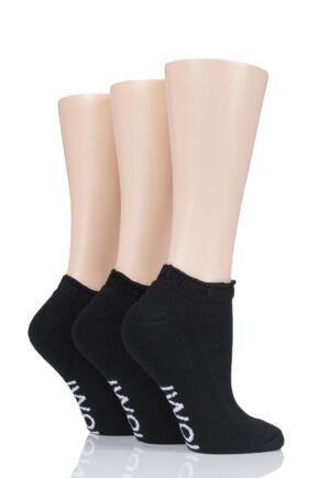Ladies 3 Pair Iomi Footnurse Cushioned Foot Diabetic Trainer Socks