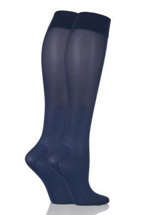 Ladies 2 Pair Iomi Footnurse Energising Compression Socks