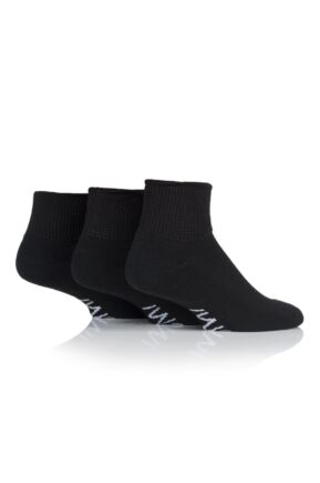 Mens 3 Pair SockShop Iomi Footnurse Gentle Grip Diabetic Ankle Socks