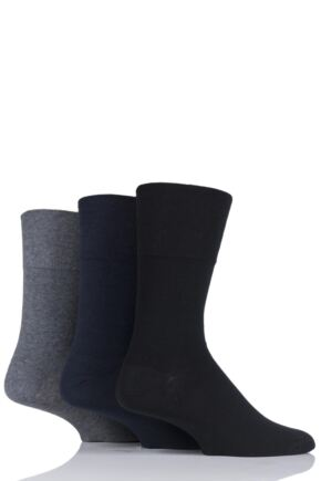Mens 3 Pair Iomi Footnurse Gentle Grip Diabetic Socks
