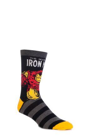 Mens SockShop Marvel Comics Mix Hulk, Spider-Man, Iron Man and Wolverine Socks