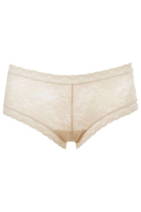 Ladies 1 Pair Kinky Knickers Ivory Handmade In The UK Straight Lace Trim Knickers
