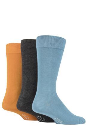 Mens 3 Pair Wild Feet Plain Bamboo Socks