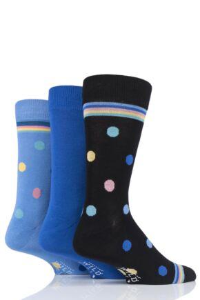 Mens 3 Pair SOCKSHOP Wild Feet Bamboo Spots Socks