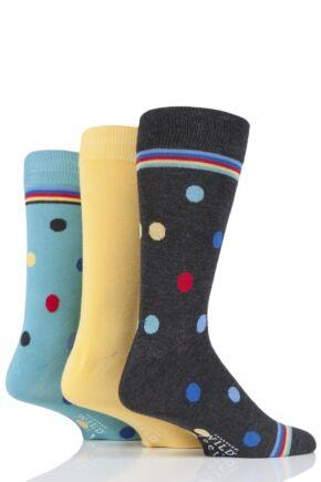Mens 3 Pair SOCKSHOP Wild Feet Bamboo Spots Socks Charcoal 7-11 Mens