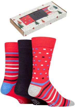 Mens 3 Pair SOCKSHOP Wild Feet Gift Boxed Bamboo Socks