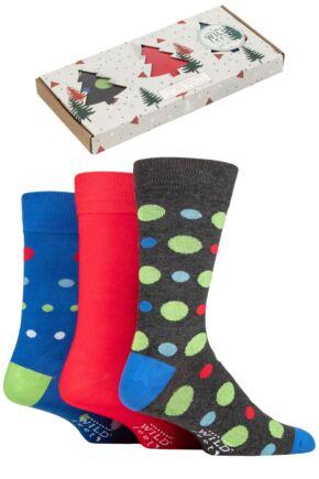 Mens 3 Pair SOCKSHOP Wild Feet Tree Gift Boxed Bamboo Socks