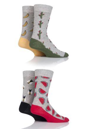 Mens 4 Pair Jack & Jones Jacfun Socks