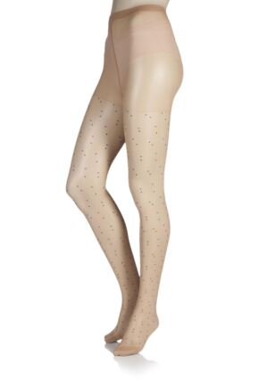 Ladies 1 Pair Jonathan Aston Dainty Dot Patterned Tights
