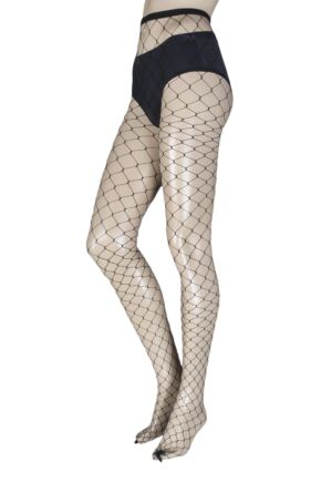 Ladies 1 Pair Jonathan Aston Diva Extra Large Fishnet Tights
