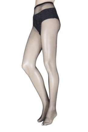 Ladies 1 Pair Jonathan Aston Shimmer Net Tights