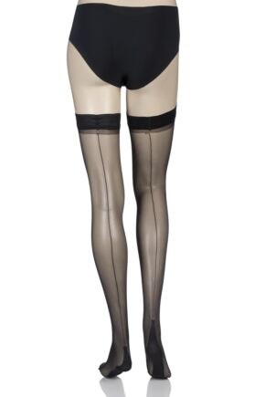 Ladies 1 Pair Jonathan Aston Lycra Seam and Heel Hold Ups