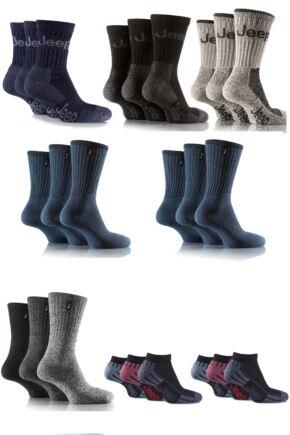 Mens Jeep Sock Drawer Filler - 24 Pairs Save 22%