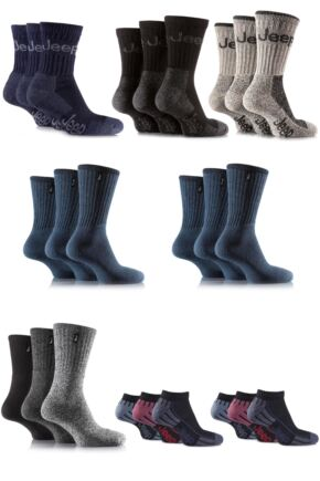 Mens Jeep Sock Drawer Filler - 24 Pairs Save 22%