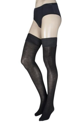 Ladies 1 Pair Trasparenze Jennifer 100 Denier Cotton Hold Ups