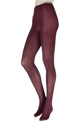 Ladies 1 Pair Trasparenze Jennifer Merino Wool Tights Vinaccia Medium