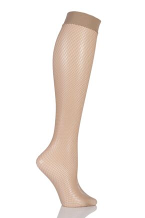 Ladies 1 Pair Jonathan Aston Fishnet Knee Highs