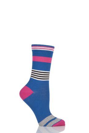 Ladies 1 Pair Jonathan Aston Impact Broken Striped Socks