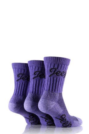 Ladies 3 Pair Jeep Luxury Terrain Socks Purple