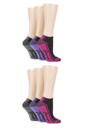 Ladies 6 Pair Jeep Performance Polyester Cushioned Trainer Socks