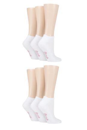 Ladies 6 Pair Jeep Plain Performance Polyester Cushioned Trainer Socks