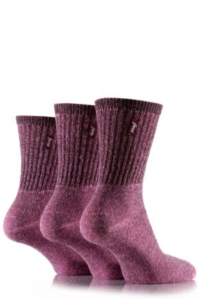 Ladies 3 Pair Jeep Vintage Socks Pink