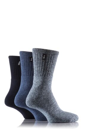 Mens 3 Pair Jeep Terrain Leisure Socks Blues