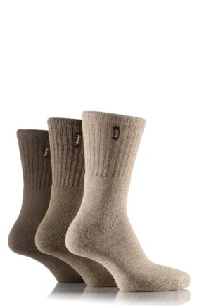 Mens 3 Pair Jeep Terrain Leisure Socks Khaki