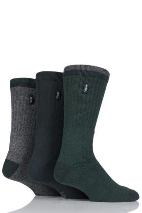 Mens 3 Pair Jeep Terrain Leisure Socks Gift Box Khaki 6-11 Mens