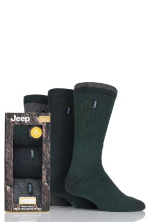 Mens 3 Pair Jeep Terrain Leisure Socks Gift Box
