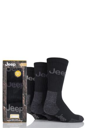 Mens 3 Pair Jeep Luxury Terrain Socks Gift Box