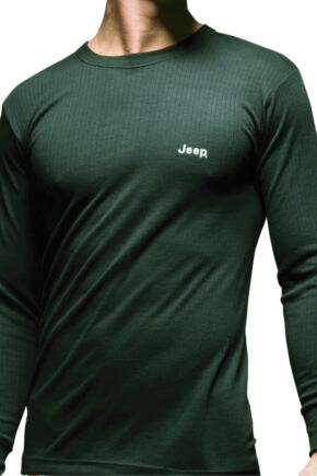 Mens 1 Pack Jeep Long Sleeved Thermal T-Shirt Black L