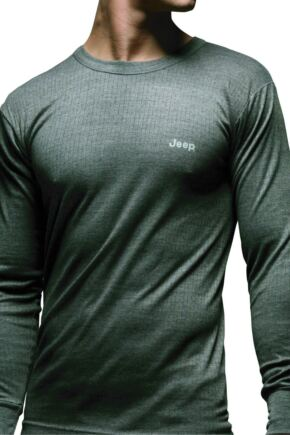 Mens 1 Pack Jeep Long Sleeved Thermal T-Shirt Grey XL