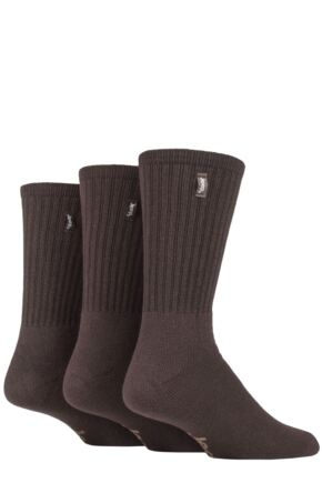 Mens 3 Pair Jeep Urban Trail Cotton Sports Socks Brown 6-11 Mens