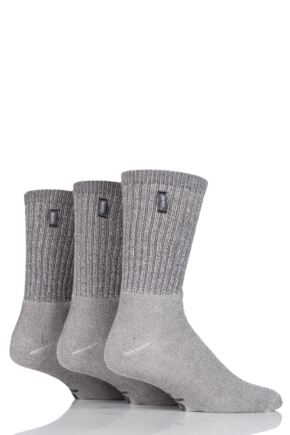 Mens 3 Pair Jeep Urban Trail Cotton Sports Socks Ecru 6-11 Mens