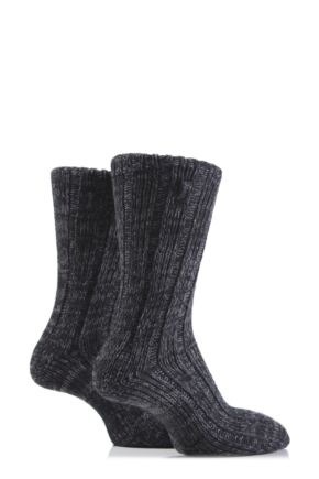 Mens 2 Pair Jeep Urban Trail Marled Cotton Boot Socks