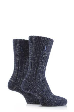 Mens 2 Pair Jeep Urban Trail Marled Cotton Boot Socks