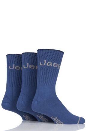 Mens 3 Pair Jeep Ribbed Cotton Boot Socks