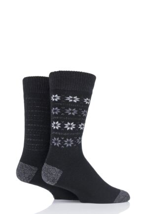 Mens 2 Pair Jeep Brushed Thermal Boot Socks