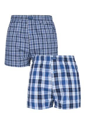 Mens 2 Pair Jeep Mens Navy Boxers