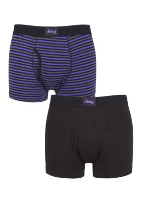 Mens 2 Pack Jeep Plain and Striped Keyhole Trunks