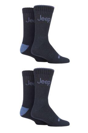 Mens 4 Pair Jeep Performance Boot Socks