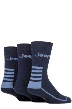 Mens 3 Pair Jeep Cotton Blend Boot Socks