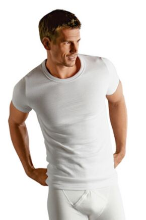 Mens 1 Pack Jockey Thermal T-Shirt White XL