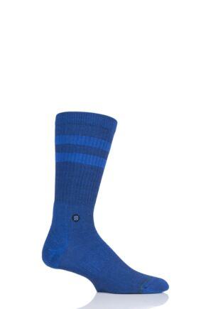Mens 1 Pair Stance Joven Striped Top Plain Cotton Socks
